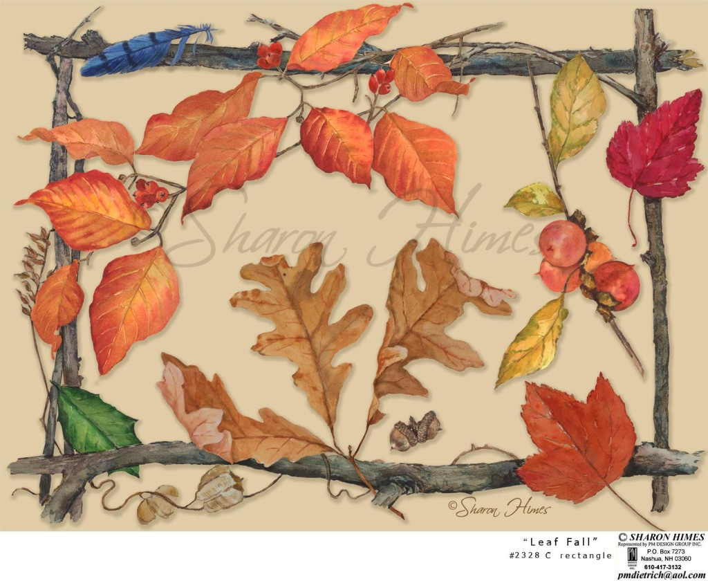 part of 'Leaf Fall' design ensemble
